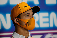 9th September 2021; Nationale di Monza, Monza, Italy; FIA Formula 1 Grand Prix of Italy, Driver arrival and inspection day:  Lando Norris GBR, McLaren F1 Team