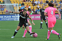 The visiting Western New York Flash defeated the Atlanta Beat, 2-0 Saturday, August 6, 2011 at Atlanta Beat - KSU Stadium, before a  crowd of 7,112, in the home team's final match of the season.