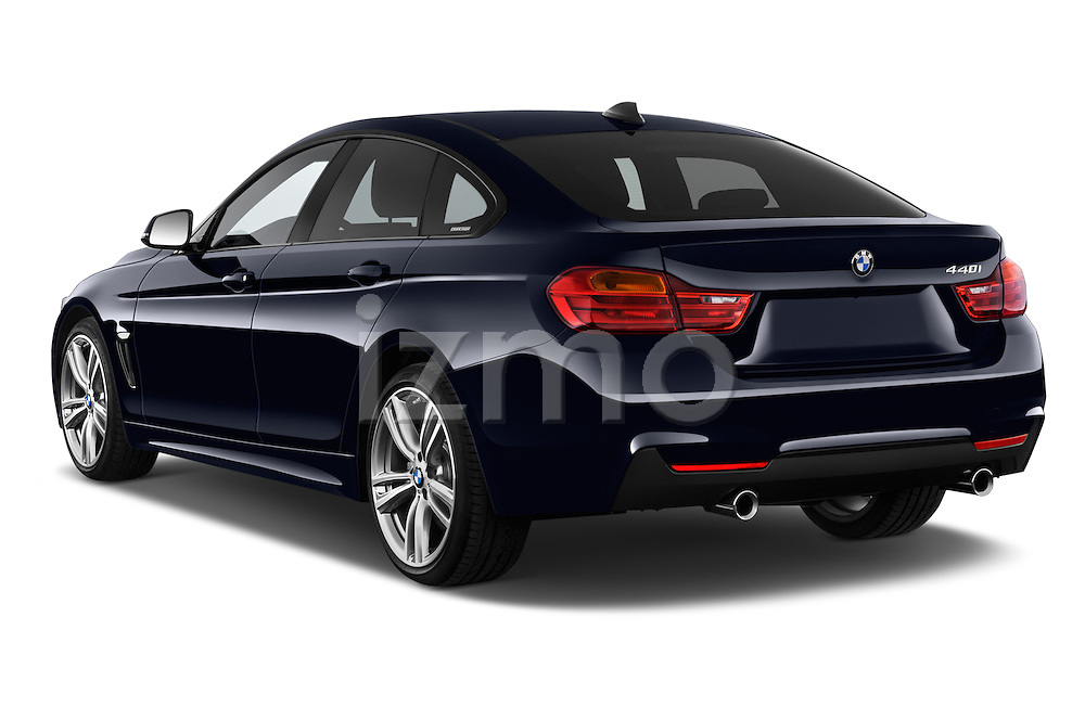 Car pictures of rear three quarter view of 2017 BMW 4-Series 440i-Gran-Coupe 5 Door Hatchback Angular Rear
