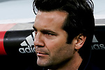 Manager Santiago Hernan Solari of Real Madrid is seen prior to the La Liga 2018-19 match between Real Madrid and Rayo Vallencano at Estadio Santiago Bernabeu on December 15 2018 in Madrid, Spain. Photo by Diego Souto / Power Sport Images