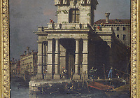 BNPS.co.uk (01202) 558833.<br /> Pic: Gorringes/BNPS<br /> <br /> A 'lost' painting by the Italian master Canaletto that was found hanging in the drawing room of an English home after 100 years today sold for over £380,000.<br /> <br /> The 18ins by 12ins oil on canvas work was bought in London in 1920 for about £100 - £5,000 in today's money - by the mother of the late owner who died recently.<br /> <br /> She inherited it over 50 years ago and hung it on the wall of the detached house in Lewes, East Sussex, that she moved into in 1970.