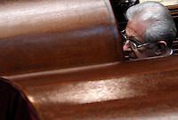 Il Presidente del Consiglio Mario Monti vota durante la quinta seduta comune di senatori e deputati per l'elezione del nuovo Capo dello Stato alla Camera dei Deputati, Roma, 20 aprile 2013..Italian Premier Mario Monti votes during the fifth common plenary session of senators and deputies to elect the new Head of State, at the Lower Chamber in Rome, 20 April 2013..UPDATE IMAGES PRESS/Isabella Bonotto