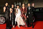 Hirona Yamazaki, Mugi Kadowaki, Honoka Yahagi, Takako Tokiwa, Shunsuke Kubozuka, October 25, 2017 - The 30th Tokyo International Film Festival, Opening Ceremony at Roppongi Hills in Tokyo, Japan on October 25, 2017. (Photo by 2017 TIFF/AFLO)