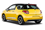 Rear three quarter view of a 2013 Citroen DS3 Sport Chic 3 Door Hatchback 2WD