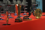 Trophies of the international international championships won by the Spanish handball team.<br /> The Spanish national handball team, Los Hispanos, led by Jordi Ribera and a bronze medalist at the 2021 Egypt World Championship, received at the Spanish Olympic Committee by its president, Alejandro Blanco, the Minister of Culture and Sports, Jose Manuel Rodriguez Uribes and by the president of the Royal Spanish Handball Federation Francisco V. Blazquez. February 1, 2021. (ALTERPHOTOS/Ricardo Blanco)