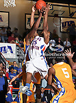 Texas-Arlington Mavericks guard Cameron Catlett (25) in action during the NCAA basketball game between the McNeese State Cowboys and the UTA Mavericks held at the University of Texas at Arlington's, Texas Hall, in Arlington, Texas.  McNeese State defeats UTA 81 to 72.