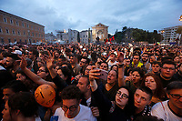 Concerto del Primo Maggio promosso da Cgil, Cisl e Uil in occasione della Festa del Lavoro, in piazza San Giovanni a Roma, 1 maggio 2017.<br /> May Day free concert on the occasion of the International Workers' Day, in St. John Lateran's Square, Rome, May 1, 2017.<br /> UPDATE IMAGES PRESS/Riccardo De Luca