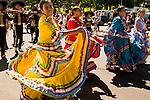 Native Mexican Dancing in a Parade, Hood RIver, Oregon