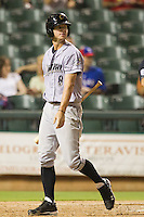 Omaha Storm Chasers outfielder Wil Myers #8 walks back to the dugout after striking out during the Pacific Coast League baseball game against the Round Rock Express on July 22, 2012 at the Dell Diamond in Round Rock, Texas. The Express defeated the Chasers 8-7 in 11 innings. (Andrew Woolley/Four Seam Images).