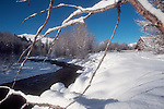 Winter, Snow, Twisp River, Methow Valley, Eastern Washington, Washington State, Pacific Northwest, USA