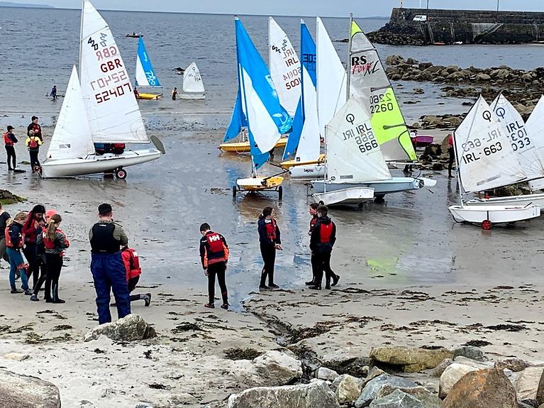 Dinghies prepare to launch at An Spidéail with Cumann Seoltóireachta an Spidéil which holds its annual regatta this Saturday (Sept 18)