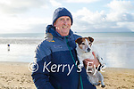 Noel Casey and Mesi the dog enjoying the day on Ballyheigue beach on New Years Day.