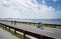 Matteo Jorgenson (USA/Movistar) joining the breakaway group<br /> <br /> 104th Giro d'Italia 2021 (2.UWT)<br /> Stage 15 from Grado to Gorizia (147km)<br /> <br /> ©kramon