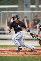 Miami Marlins Rodrigo Vigil (46) during a minor league Spring Training intrasquad game on March 31, 2016 at Roger Dean Sports Complex in Jupiter, Florida.  (Mike Janes/Four Seam Images)