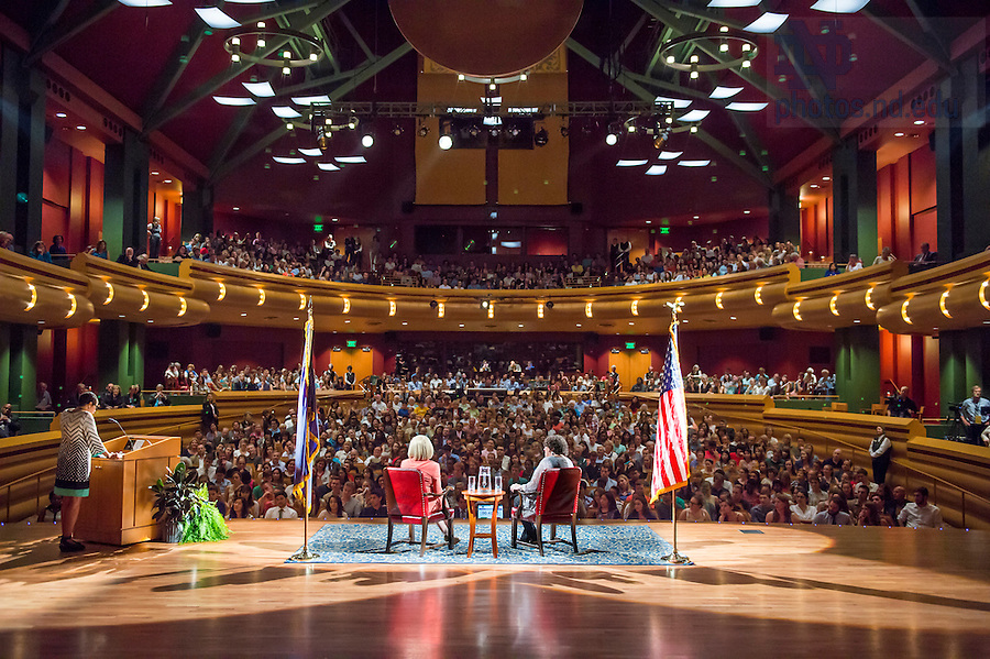 Sept. 2, 2015; U.S. Supreme Court Justice Sonia Sotomayor's visit to Notre Dame.  (Photo by Barbara Johnston/University of Notre Dame)