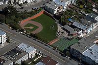 aerial photograph baseball diamond residential neighborhood San Francisco California