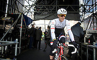 Jasper Stuyven (BEL/Trek Factory Racing) on the start podium<br /> <br /> 99th Ronde van Vlaanderen 2015