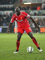 SWANSEA, WALES - MARCH 16: Mamadou Sakho of Liverpool<br /> Re: Premier League match between Swansea City and Liverpool at the Liberty Stadium on March 16, 2015 in Swansea, Wales
