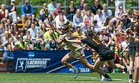 Newton, Massachusetts - May 18, 2019: NCAA Division I lacrosse tournament quarterfinals. Boston College (gold) defeated Princeton University (black), 17-12, at Newton Campus Field on May 18, 2019 in Newton, Massachusetts. (Photo by Andrew Katsampes/ISI Photos).