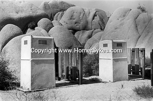 Two toilet cabins, Joshua Tree National Park California USA .