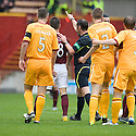 HEARTS' IAN BLACK IS SENT OFF