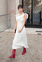 October 3 2017, PARIS FRANCE the Miu Miu<br /> Show at the Paris Fashion Week Spring Summer 2017/2018. Model Emily Ratajkowski leaves the show.