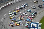 #17: Ricky Stenhouse Jr., Roush Fenway Racing, Ford Mustang SunnyD and #18: Kyle Busch, Joe Gibbs Racing, Toyota Camry M&M's Hazelnut
