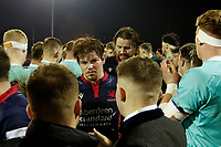 A disconsolate Miles Wakeling of London Scottish during the Greene King IPA Championship match between London Scottish Football Club and Nottingham Rugby at Richmond Athletic Ground, Richmond, United Kingdom on 7 February 2020. Photo by Carlton Myrie.