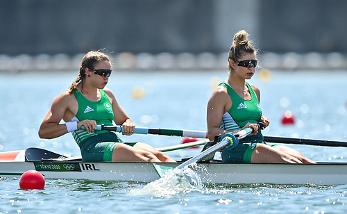 Aileen Crowley, left, and Monika Dukarska (right) of Ireland in action during the heats of the Women's Pair at the Sea Forest Waterway during the 2020 Tokyo Summer Olympic Games in Tokyo, Japan. Dukarska will compete in the Irish ChampionshipsPhoto by Seb Daly/Sportsfile