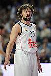 Real Madrid´s Sergio Llull during 2014-15 Euroleague Basketball Playoffs match between Real Madrid and Anadolu Efes at Palacio de los Deportes stadium in Madrid, Spain. April 15, 2015. (ALTERPHOTOS/Luis Fernandez)
