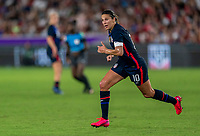ORLANDO, FL - MARCH 05: Carli Lloyd #10 of the United States sprints during a game between England and USWNT at Exploria Stadium on March 05, 2020 in Orlando, Florida.