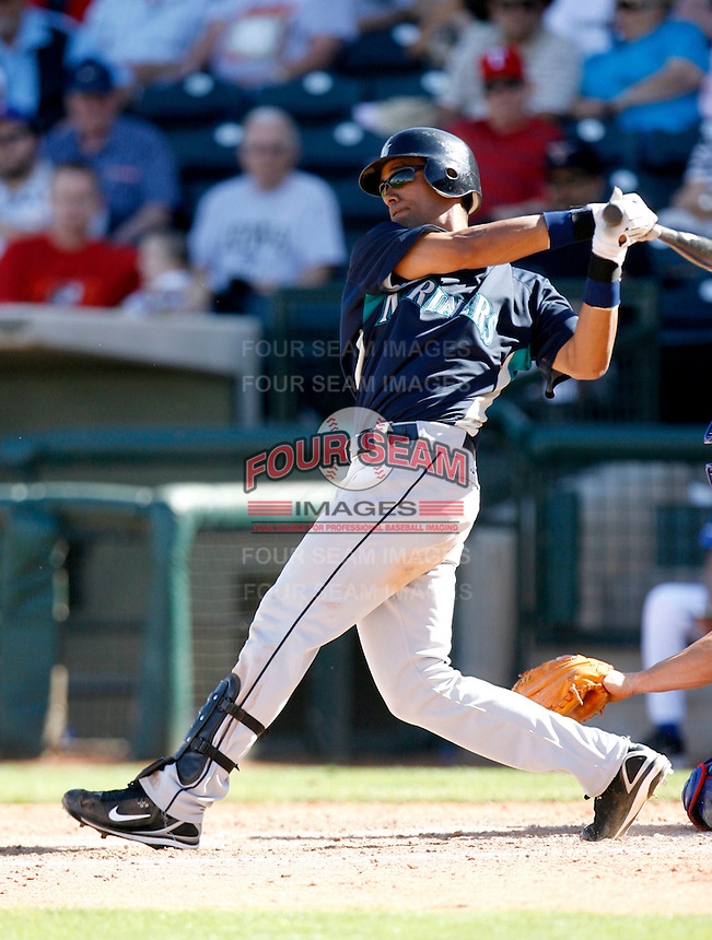 Franklin Gutierrez -  Seattle Mariners - 2009 spring training.Photo by:  Bill Mitchell/Four Seam Images