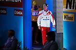 Aya Terakawa (JPN), <br /> JULY 30, 2013 - Swimming : Aya Terakawa of Japan before the women's 100m backstroke final at the 15th FINA Swimming World Championships at Palau Sant Jordi arena in Barcelona, Spain.<br /> (Photo by Daisuke Nakashima/AFLO)