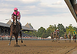 09 August 30: Icon Project (no 6), ridden by Julien Leparoux and trained by Martin Wolfson, wins the 62nd running of the grade 1 Personal Ensign Stakes for fillies and mares three years old and upward at Saratoga Race Track in Saratoga Springs, New York.