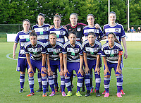 20160520 - TUBIZE , BELGIUM : team Anderlecht pictured with Lieselot De Kegel , Laura De Neve ,  Laura Deloose , Diede Lemey , Marlies Verbruggen , Heleen Jaques , Solange Rodrigues Carvalhas , Noemie Gelders , Lola Wajnblum , Anaelle Wiard and Justine Blave during a soccer match between the women teams of RSC Anderlecht and Standard Femina de Liege , during the sixth and last matchday in the SUPERLEAGUE Playoff 1 , Friday 20 May 2016 . PHOTO SPORTPIX.BE / DAVID CATRY
