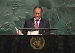 72 General Debate – 20 September <br /> <br /> by His Excellency Charlot Salwai Tabimasmas, Prime Minister of the Republic of Vanuatu