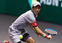 Rotterdam, The Netherlands, 3 march  2021, ABNAMRO World Tennis Tournament, Ahoy, First round singles: Kei Nishikori (JPN).<br /> Photo: www.tennisimages.com/henkkoster
