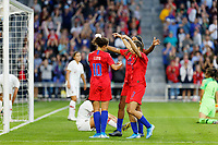 Saint Paul, MN - Tuesday September 03, 2019 : Carli Lloyd #10 scores a goal and celebrates during a 2019 Victory Tour match between Portugal and the United States at Allianz Field, on September 03, 2019 in Saint Paul, Minnesota.