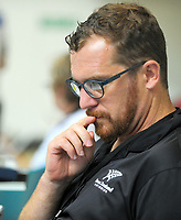 Swimming NZ media manager Kent Stead during session three heats on day two of 2017 National Age Group Swimming Championships at  Wellington Regional Aquatic Centre in Wellington, New Zealand on Wednesday, 22 March 2017. Photo: Dave Lintott / lintottphoto.co.nz