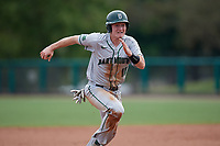 Dartmouth Big Green catcher Logan Adams (10) running the bases during a game against the USF Bulls on March 17, 2019 at USF Baseball Stadium in Tampa, Florida.  USF defeated Dartmouth 4-1.  (Mike Janes/Four Seam Images)