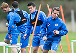 St Johnstone Training…..21.10.16<br />Chris Millar pictured during training ahead of Sunday's game against local rivals Dundee<br />Picture by Graeme Hart.<br />Copyright Perthshire Picture Agency<br />Tel: 01738 623350  Mobile: 07990 594431