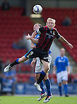 St Johnstone v Inverness Caledonian Thistle...05.10.13      SPFL<br /> Richie Foran and Gary McDonals battle for the ball<br /> Picture by Graeme Hart.<br /> Copyright Perthshire Picture Agency<br /> Tel: 01738 623350  Mobile: 07990 594431