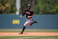 Jupiter Hammerheads Connor Grant (13) running the bases during a Florida State League game against the Florida Fire Frogs on April 11, 2019 at Osceola County Stadium in Kissimmee, Florida.  Jupiter defeated Florida 2-0.  (Mike Janes/Four Seam Images)