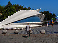 Konzertmuschel bei den Tanzenden Fontänen am  Batumi Boulevard, Batumi, Adscharien - Atschara, Georgien, Europa<br /> bandshell at dancing fountains , Batumi, Adjara,  Georgia, Europe