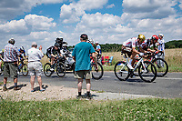 First breakaway group with Greg Van Avermaet (BEL/AG2R Citroën) & Thomas De Gendt (BEL/Lotto Soudal)<br /> <br /> Stage 6 from Tours to Châteauroux (160km)<br /> 108th Tour de France 2021 (2.UWT)<br /> <br /> ©kramon