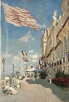Claude Monet - Hotel des Roches Noires, Trouville (1870). Paris, musee d'Orsay.