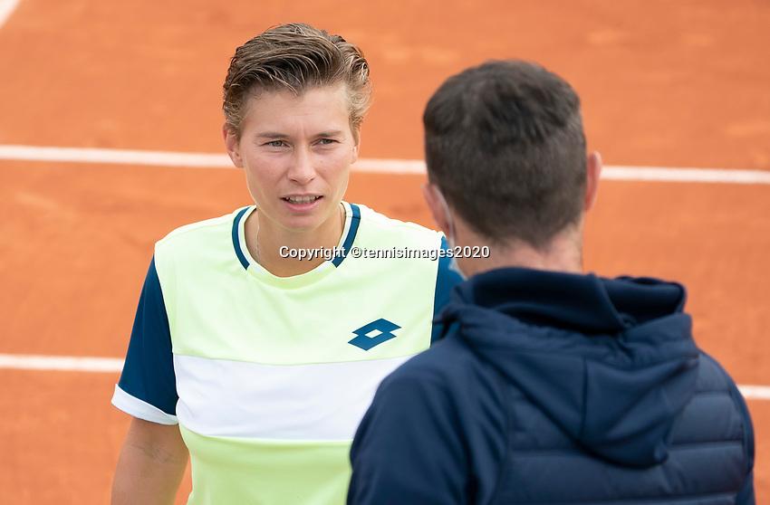 Paris, France, 02 ,10,  2020, Tennis, French Open, Roland Garros, Women's doubles: Demi Schuurs (NED) <br /> Photo: Fred Mullane/tennisimages.com