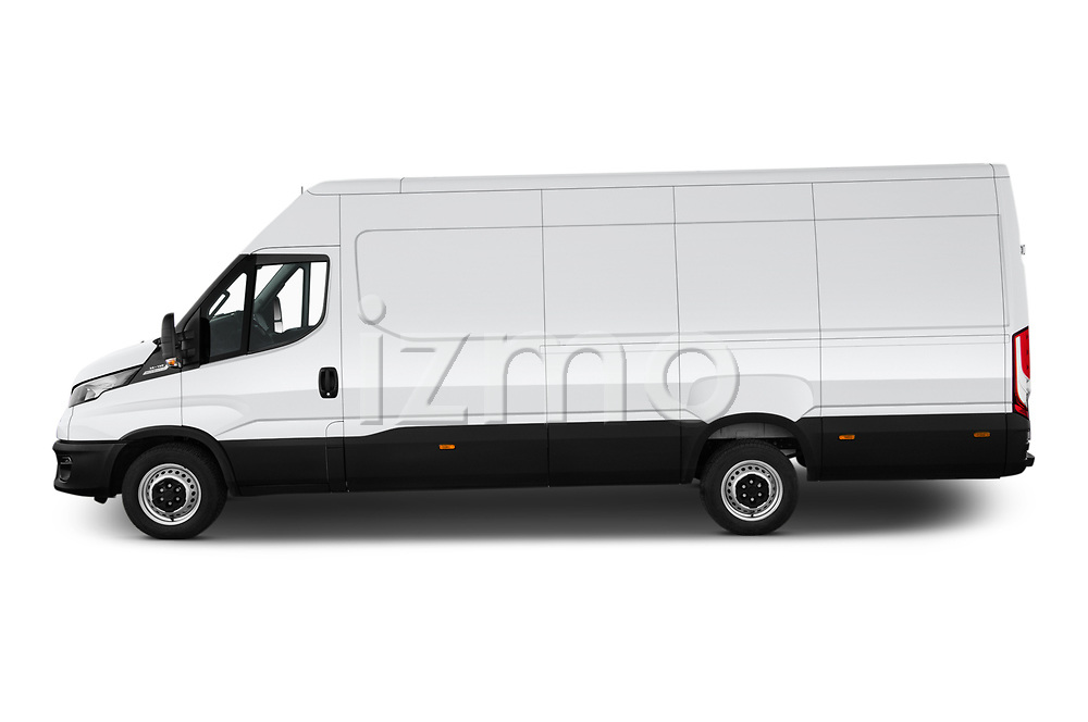 Car Driver side profile view of a 2021 Iveco Daily - 4 Door Cargo Van Side View