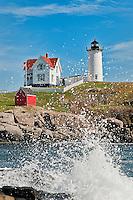 Nubble Light, Cape Neddick, York, Maine, ME, USA