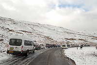SNOW WEATHER WALES<br /> Pictured: Snow in Storey Arms in the Brecon Beacons, Wales, UK. Friday 13 January 2017<br /> Re: Heavy snow affects parts of the UK